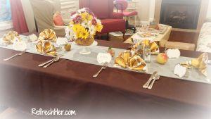 apples dinner table