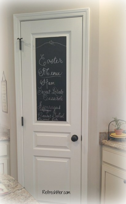 Chalkboard Pantry Door Refreshher
