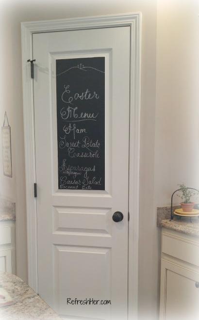 chalkboard pantry door refreshher