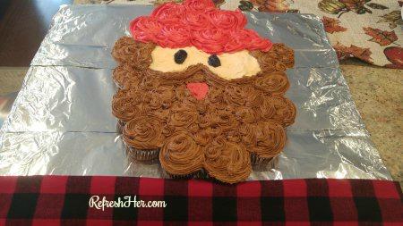 lumberjack cupcakes