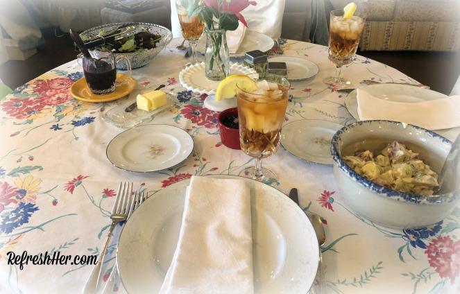Sunday dinner table 2