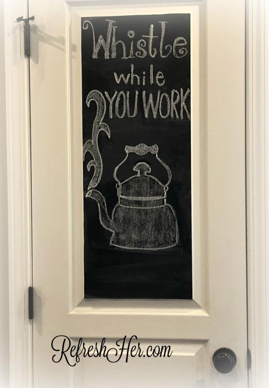 tea chalkboard