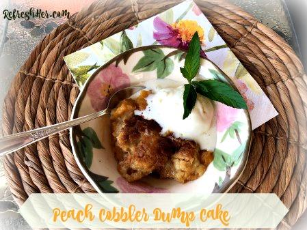 Peach Cobbler dump cake a