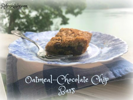 Oatmeal Chocolate chip bars a