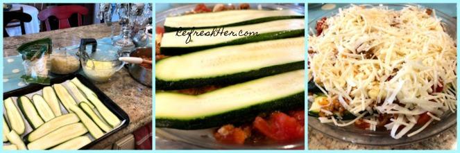 zucchini lasagna collage